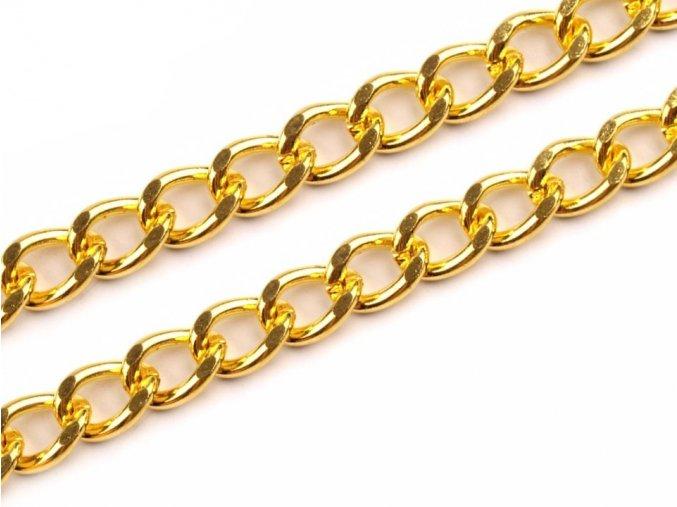 Řetěz na kabelku 120 cm zlatý
