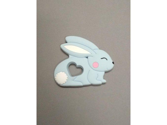 Silikonový králíček sv.modrý