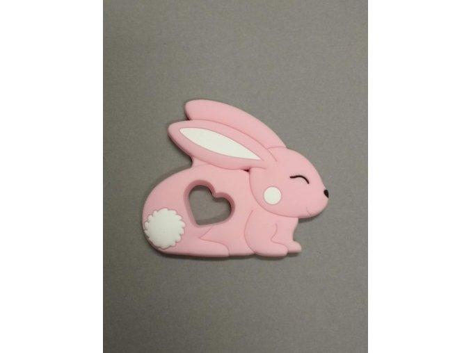 Silikonový králíček sv.růžový