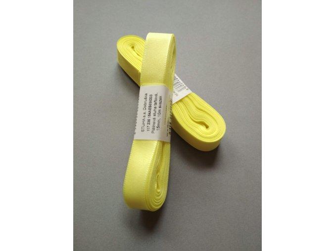 Stuha taftová banánová