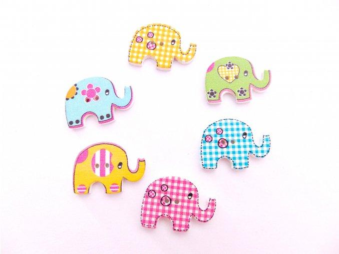 Knoflíky sloni