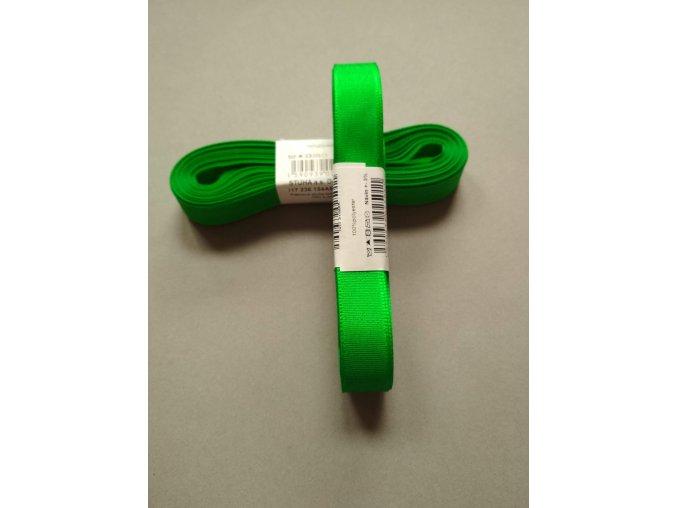 Stuha taftová středně zelená