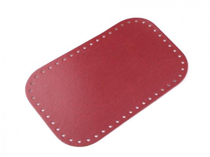 Dno tašky 18x28 cm červené