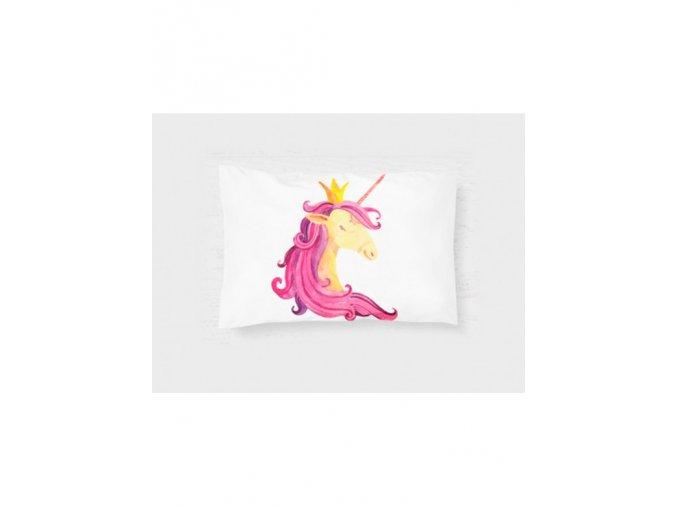 "Látkový panel ""jednorožec růžový""- polštář"