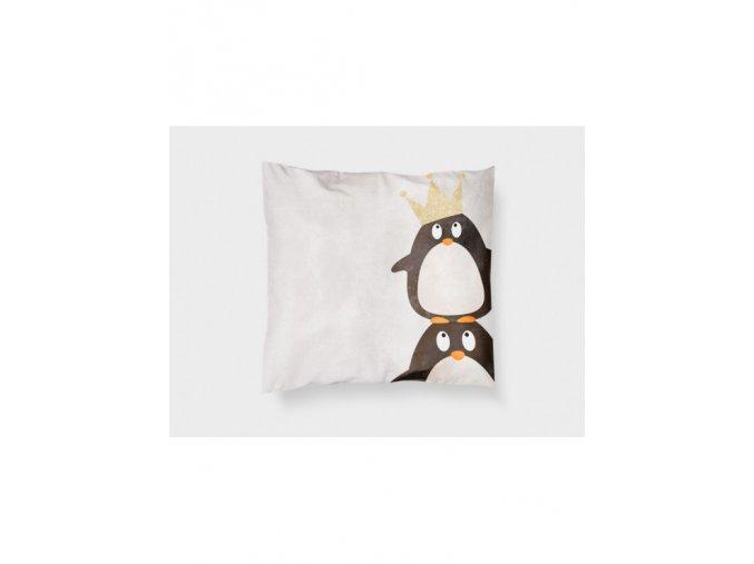 """Látkový panel """"tučňáci""""- polštář"""