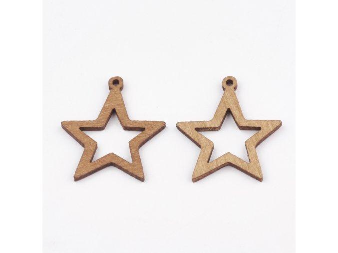 Dřevěný výřez malý- hvězdička