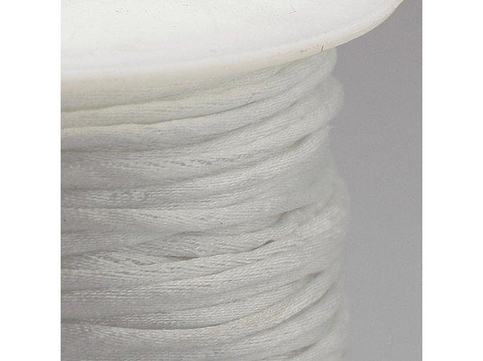 Polyesterová šňůra 1 mm bílá