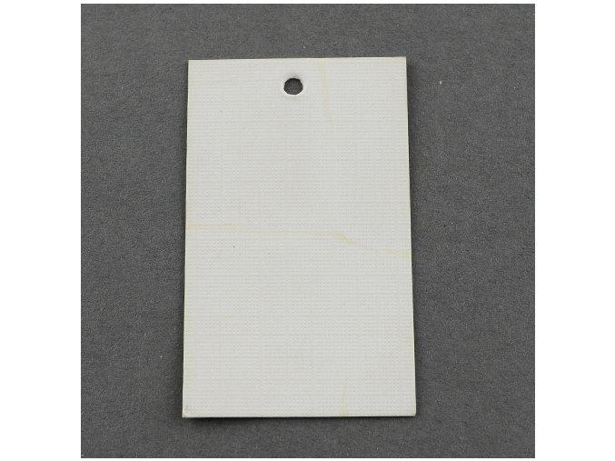 Kartičky 5x3cm bílé, 100ks