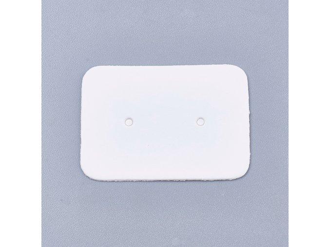 Kartičky na náušnice bílé, 100ks