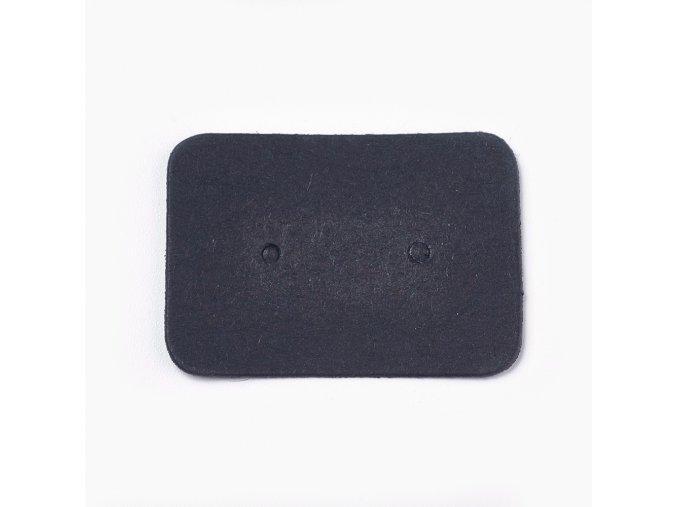 Kartičky na náušnice černé, 100ks