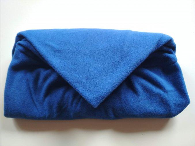 Vak do pufu 50x35 cm modrý