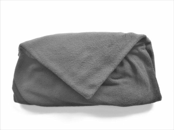 Vak do pufu 40x30 cm tmavě šedý