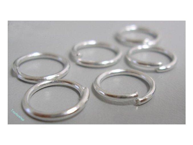 Spojovací kroužky stříbrné 10 mm