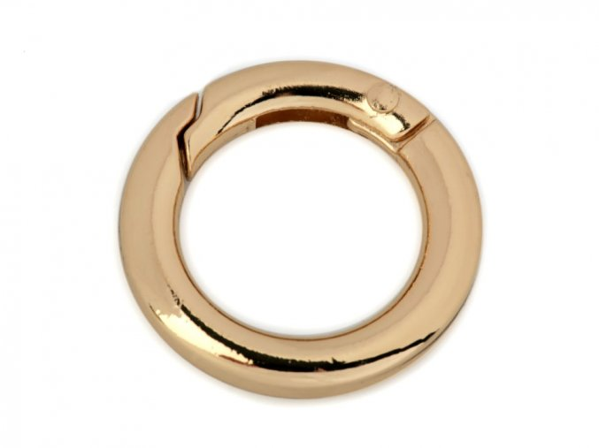 Karabina kulatá zlatá 18mm