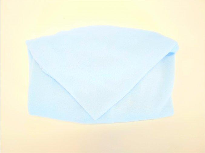 Vak do pufu 50x20 cm světle modrý