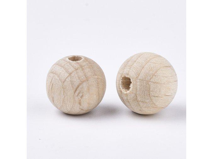 Dřevěné korálky 25 mm