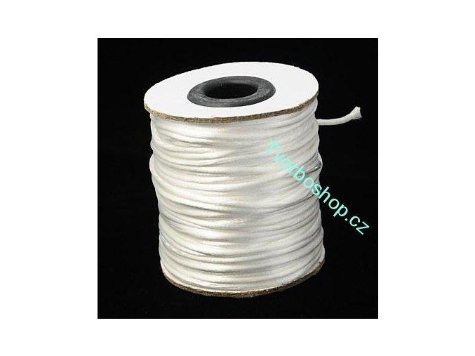 Polyesterová šňůra 2 mm bílá