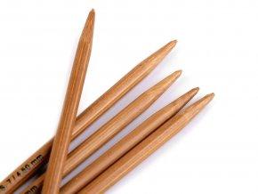 Bambusové ponožkové jehlice č. 3,5; 4; 4,5 Pony