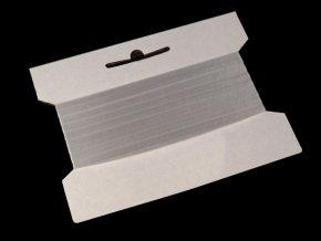 Silikonová pruženka / lastin šíře 6 mm elastická