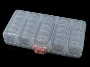 Plastový box / zásobník 9x19x3,5 cm na korálky