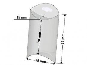 Plastová krabička k zavěšení 5x8,5 cm