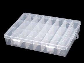 Plastový box / zásobník 14x20x4 cm
