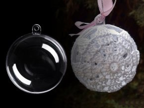 Plastová koule Ø6 cm dvoudílná