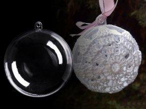 Plastová koule Ø8,5 cm dvoudílná