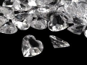 Dekorační diamanty 18x18 mm srdce