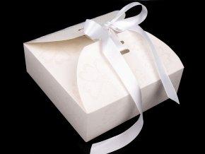 Papírová krabička se stuhou a glitry