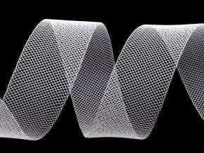 Modistická krinolína na vyztužení šatů a výrobu fascinátorů šíře 2,5 cm