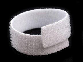 Suchý zip šíře 20 mm bílý oboustranný