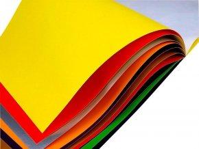 Papír barevný samolepicí 21x29 cm