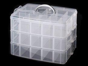 Plastový box / kufřík 3 patrový s rukojetí