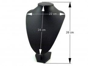 Dekolt dámský aranžérský 22x28 cm koženka