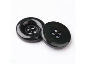Akrylové knoflíky černé 18mm