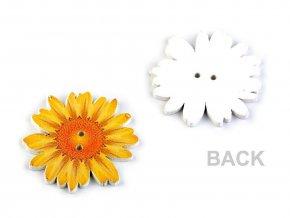 Dřevěný dekorační knoflík květ