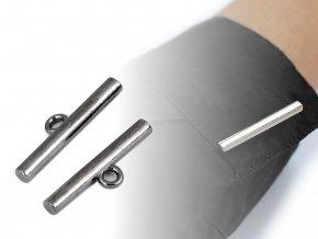 Designový knoflík / tyčinka / zapínání 8x30 mm