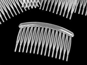 Hřeben plastový do vlasů 80x45 mm