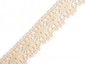 Bavlněná krajka šíře 32 mm paličkovaná