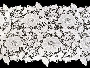 Vyšívaná krajka / běhoun šíře 36 cm off white
