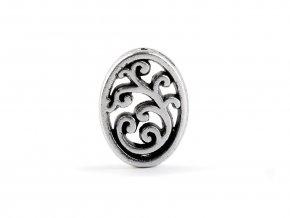 Kovový korálek / koncovka na šňůrku ornament