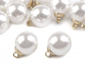 Perla s očkem / knoflík Ø20 mm