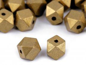 Dřevěné korálky metalické