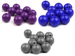 Plastové korálky Color Ø20 mm