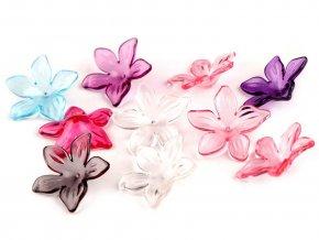 Plastové korálky květ / sukýnka Ø29 mm