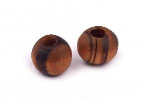 Dřevěné korálky Strip Ø8 mm