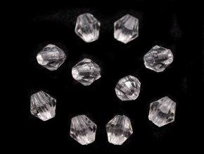Plastové korálky cínovky / sluníčko 4x4 mm