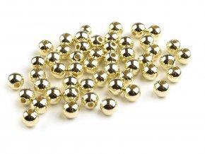 Plastové voskové korálky / perly Glance Metalic Ø6 mm