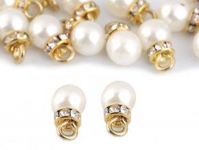 Přívěsek perla s rondelkou Ø8 mm